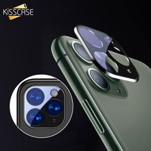 KISSCASE Camera Lens Screen Protector For iPhone 11 Pro Max Back Color Coverage Tempered Glass Film