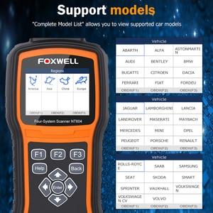 Image 5 - FOXWELL NT604 OBD Scanner Code Reader Motor Überprüfen Scan Tool ABS SRS Übertragung Werkzeuge Für Auto 4 System Diagnose Freies update