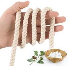Corde en coton macramé 10mm, pour tentures murales de jardin, plantes, tricot, décoration artisanale de maison, bricolage