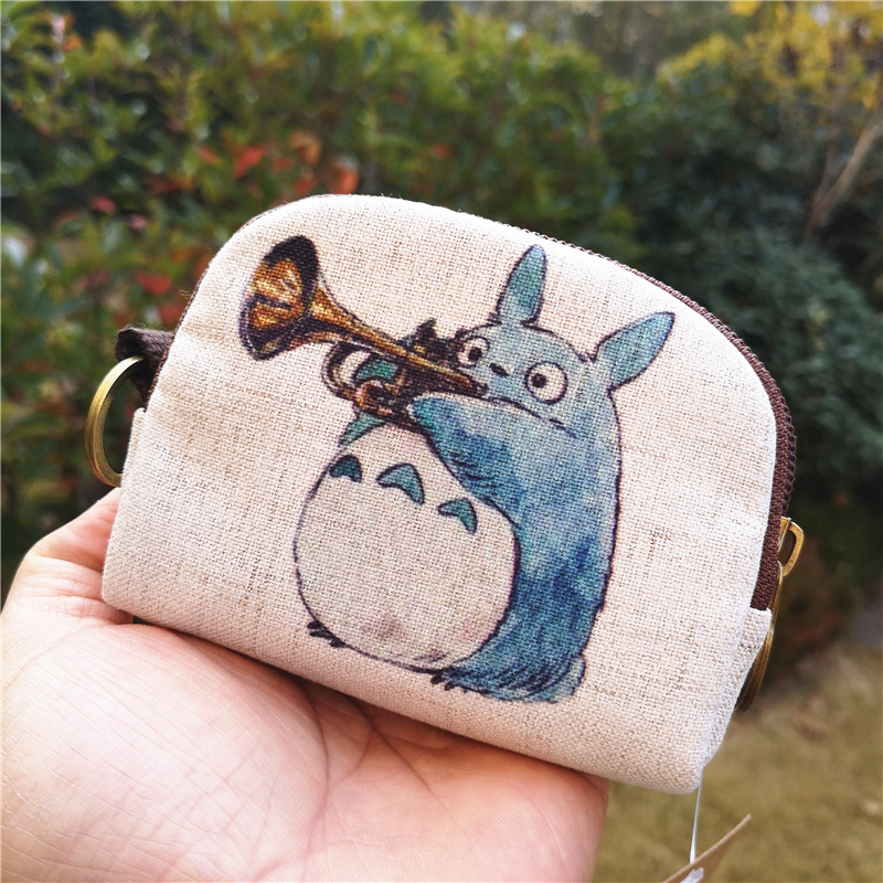 Kawaii Totoro Mini Girls Coin Purse Small Light Wallet Slim Women Zipper 2020 New Cute Totoro Fox Elephant Cat Owl Coin Purse