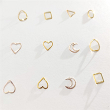 100pcs Heart Nail Decals Metal Studs Nailart Rivet Charms DIY Nails Accessories 3D Nail Art Decorations for Design Manicure leamx 3d mixed nail rivets round metal nail art decoration 2019 new nail accessories studs rivet diy charms manicure 5 sizes