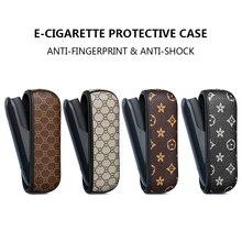 Caso protetor para e cigarro portátil titular saco para iqos 3 3.0 luxo negócio capa de couro amor bom handfeeling