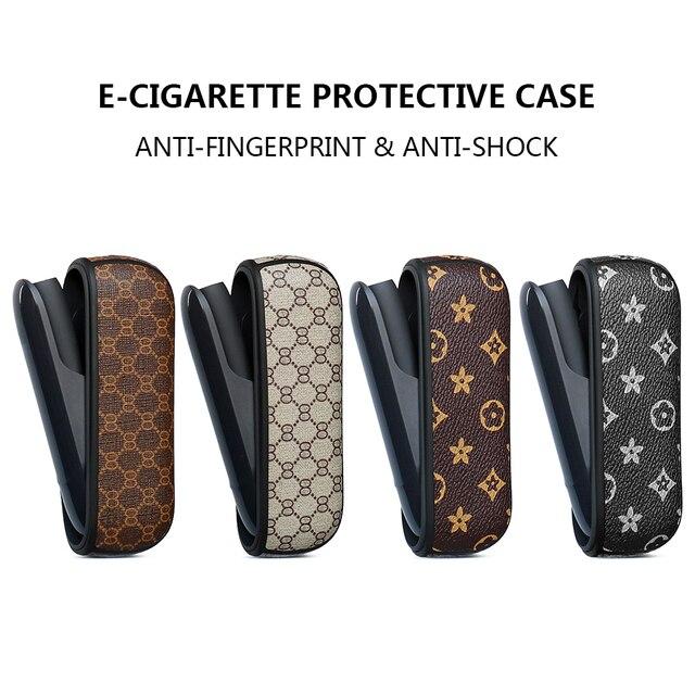 מגן מקרה עבור E סיגריה נייד מחזיק תיק עבור iqos 3 3.0 עסקי יוקרה עור כיסוי אהבה טוב handfeeling