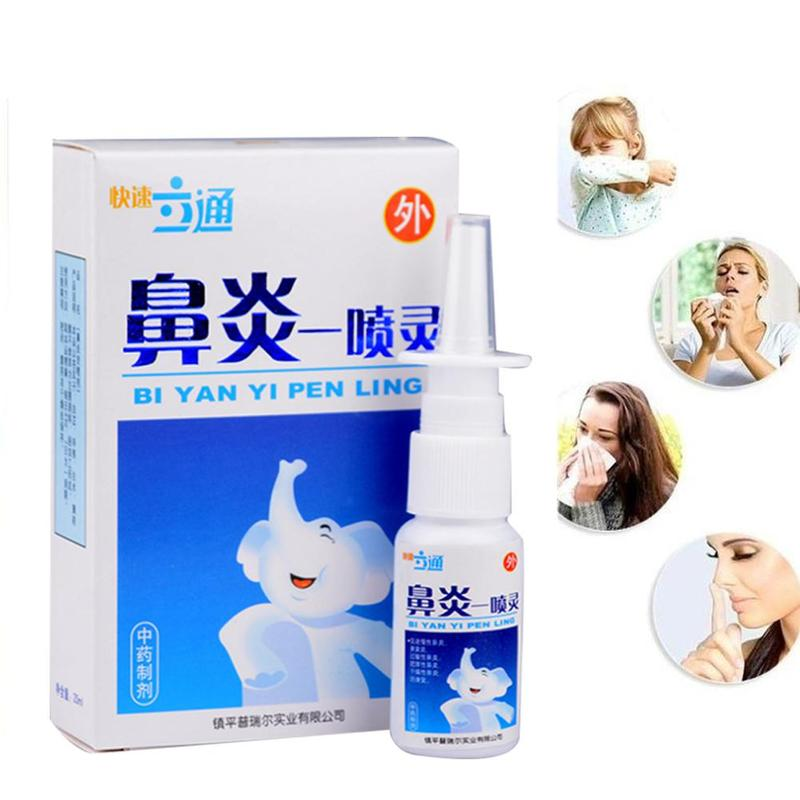 Chinese Medical Rhinitis Spray Herb Nasal Sprays Chronic Rhinitis Spray Rhinitis Treatment Antibacterial Nose Health Care Tool