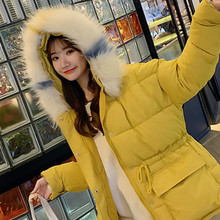 women loose cotton parkas coat cloak A word cotton clothing student bread winter warm coat large fur collar Thick  puffy jacket children s clothing danish princess loves round collar asymmetric bow small a word swing warm coat