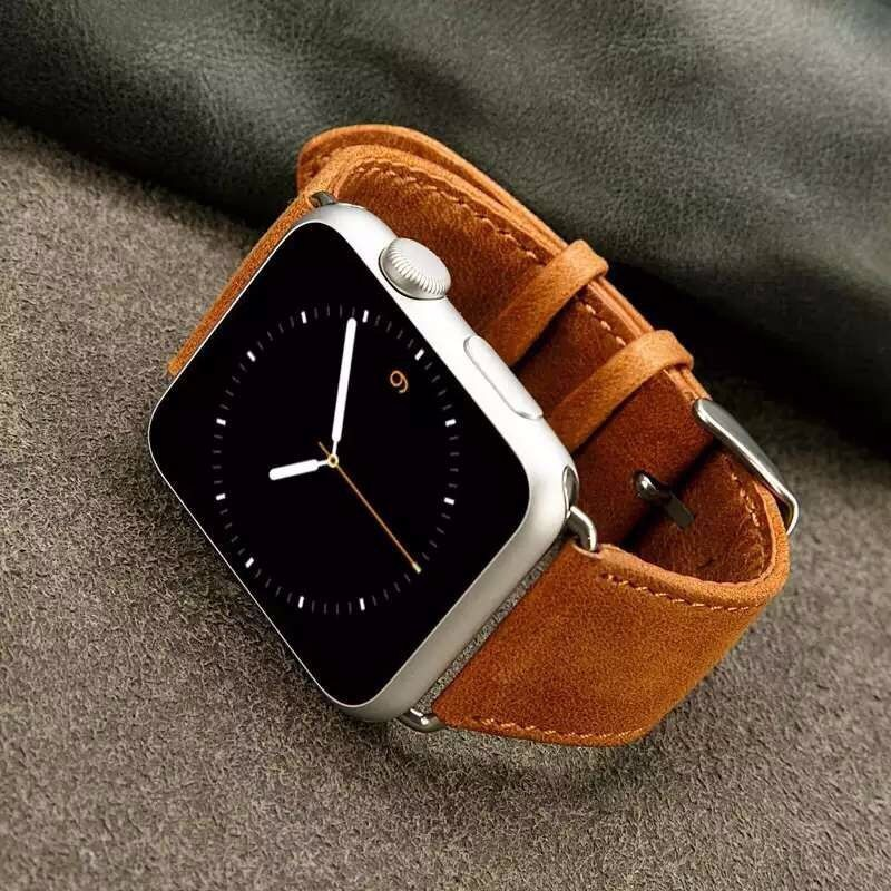 New Design Genuine Leather Band For Apple IWatch 42mm 38mm 40mm 44mm Wristband Strap For Apple Watch Series 5 4 3 2 1series 5