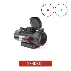 1x40RDL 1x40 Red Green Dot Sight Hunting Scope 11mm 20mm Rail Mount Collimator Sight Tactical Scope Airsoft Gun Riflescopes