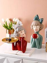 Скандинавская Современная Скульптура девушки украшения художественная