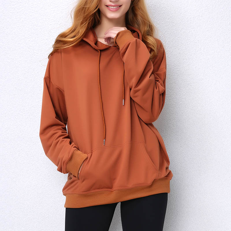 Hoodie Sweatshirt Casual Loose Thin Spring Hoody Girls Feamle Summer Tops Women Hooded Sweatshirts EU Size