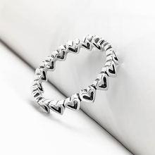100% 925 Серебряное кольцо pave красивые Серебристые Сердце