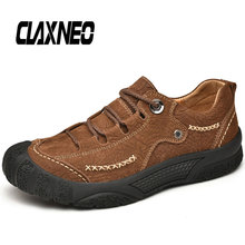 CLAXNEO Man Shoes Autumn Genuine Leather Men's Casual Shoe Handmade Male Walking Footwear High Quality все цены