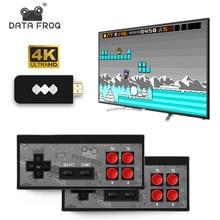 Данные лягушка Мини 4K видео игровая консоль двойной проигрыватель и ретро встроенный в настоящие 568 классические игры Беспроводной контроллер HDMI выход