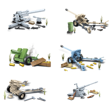 6Pcs World War 2 WW2 Army German Tank City Soldier Police Weapon Military Building Blocks Bricks Education Kids Toys Gift