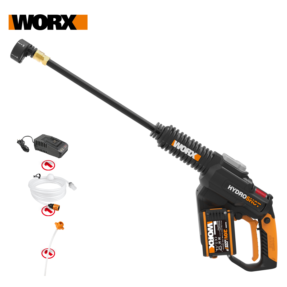 Worx 20V Hydroshot WG630E High Pressure Car Washer Brushless Big flow Rechargeable Cordless Car Washing Portable Wireless Washer