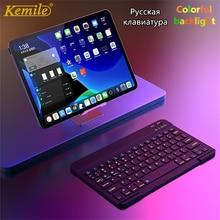 Ultra Sottile Senza Fili di Alluminio di Bluetooth Tastiera Russa Per IOS Android Tablet PC Finestre Per iPad Bluetooth Tastiera Russa