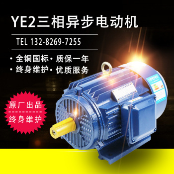 Three-phase asynchronous motor Y90L-2 pole 2.2KW new copper national standard motor motor YE2 motor 380v three phase asynchronous motor y2 series motor new copper national standard y132s 4 pole 5 5kw kilowatt copper core 380v