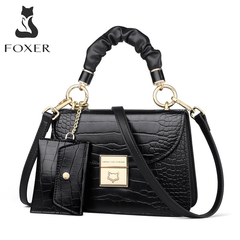 FOXER-Bolso pequeño Retro con estampado de cocodrilo para mujer, bandolera clásica de lujo, para otoño e invierno, 2020