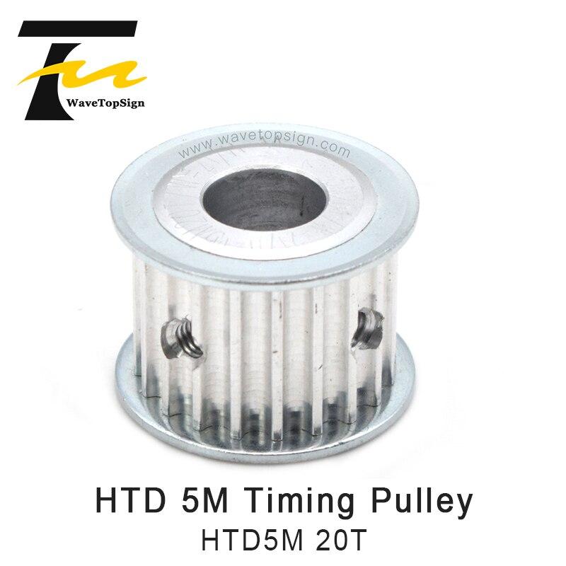 Синхронный шкив зубчатой передачи HTD 5 м, шкив зубчатой передачи 6-12 мм ширина 11/16 мм для DIY CO2 Лазерная гравировальная и режущая машина