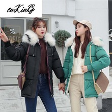 купить Plus Size Winter Women Parkas coat 2019 Fashion thick warm big fur hooded slim jacket coat Solid female jacket for winter M-XXXL по цене 1429.63 рублей