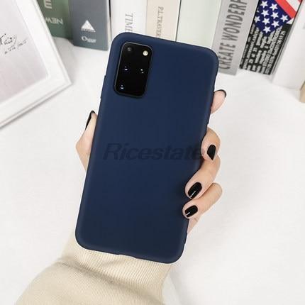 Case For Samsung Galaxy S20 Ultra S7 Edge S8 S9 S10 Lite S10e Note 8 9 10 Plus A10 A20 A50 A70 Solid Color Silicone Cover Case