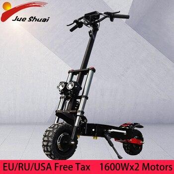 11 pulgadas Scooter Eléctrico 60V 3200W Dual Motor carretera E Scooter 80 km/h DOBLE Drive de alta Scooter de velocidad Patinete Electrico Adulto