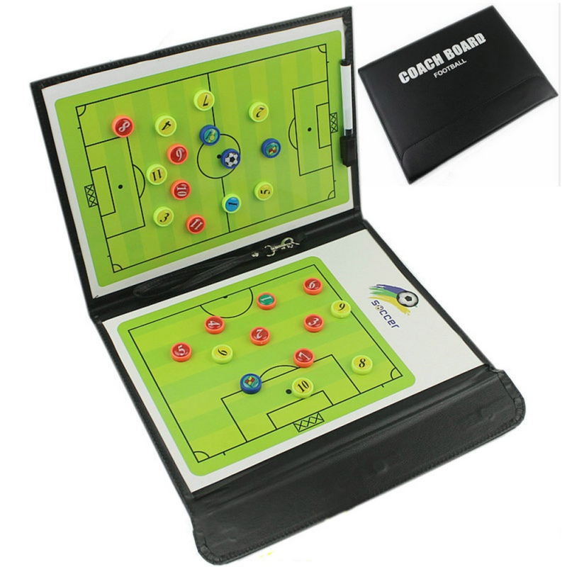 Tactical Plate Book Set with Pen Clipboard Football Supplies Coaching Board Foldable Football Tactic Board Magnetic Soccer Coach