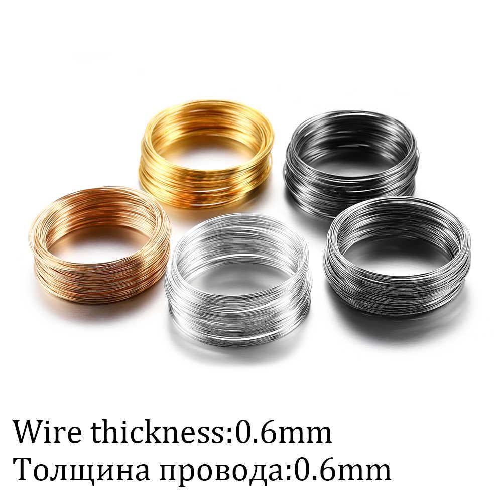 Brincos com 100 alças, 0.6mm fio de aço de memória para diy, brincos e joias, acessórios de busca