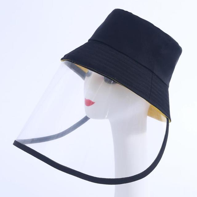 Dropship Anti-saliva Dust-proof Hat With Mask Safety Transparent Protective Mask Plastic Anti-fog Saliva Hats Face Shields Mask