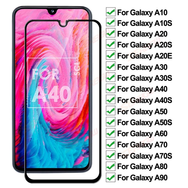 Противоударное закаленное стекло 200D для Samsung galaxy A10 A20 A30 A40 A50 A60 A70 A80 A90, Защитная пленка для экрана A20E A30S A50S, стеклянная пленка