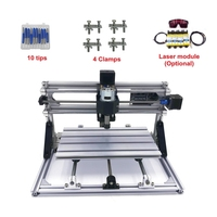 Disassembled pack mini CNC 1610 with 10W laser engraving machine Pcb Milling Machine Wood Carving machine diy mini cnc router