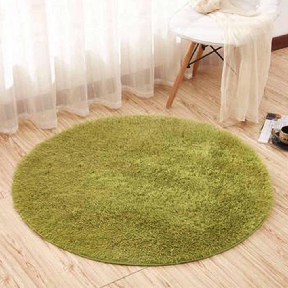 Karpet Karpet untuk Ruang Tamu Keset Bulat Mewah Yoga Mat Meja Komputer Selimut Dapur Non-slip Bantalan Pintu Rumah