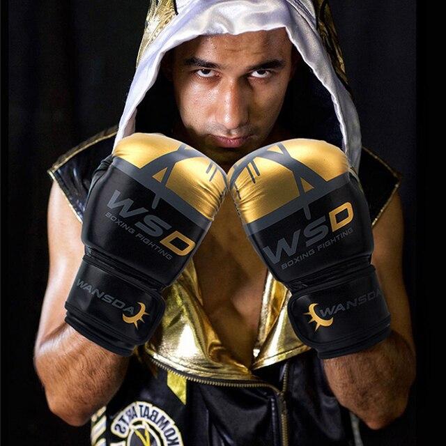 REXCHI Kick Boxing Gloves for Men Women PU Karate Muay Thai Guantes De Boxeo Free Fight MMA Sanda Training Adults Kids Equipment 4