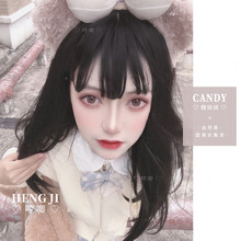 Uwowo długie proste peruki Lolita żaroodporne włosy syntetyczne Anime peruki na przyjęcie 2 kolor peruka dla anime cosplay