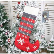 Brand New Christmas Calendar Stockings Decor Supplies Ornaments Gifts Creative Countdown
