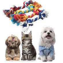 Cotton Dog Toys Chew Knot Teeth Cleaning Rope Toys For Dog Plush Durable Braided Bone Goods For Dogs Dog Accessories Pet Toys