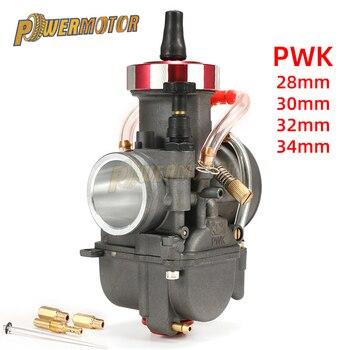 Carburador de motocicleta PWK 28 30 32 34mm para Keihin 150-400cc, Scooter de carreras todoterreno UTV ATV con Power jets