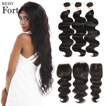Remy Forte Body Wave Bundles With Closure 30 Inch Bundles With Closure  Brazilian Hair Weave Bundles 3/4 Bundles With Closure remy forte straight hair bundles with closure pink bundles with closure brazilian hair weave bundles 3 4 colored hair bundles
