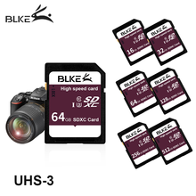 Карта памяти Blke SD, высокоскоростная камера 256 ГБ 128 Гб 64 ГБ 32 ГБ 16 ГБ SDXC sdhc class10 U3 для Canon Nikon Sony Panasonic Fujifilm