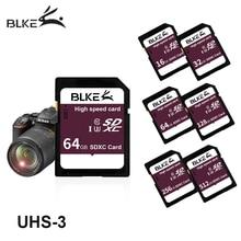 Cartão sd blke 256gb 128 64g 32g 16g sdxc sdhc de alta velocidade cartão de memória da câmera class10 u3 para canon nikon sony panasonic fujifilm
