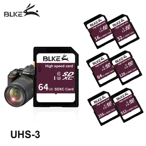 Blke SD card 256gb 128GB 64g 32g 16g SDXC sdhc high speed camera memory card class10 U3 for Canon Nikon Sony Panasonic Fujifilm