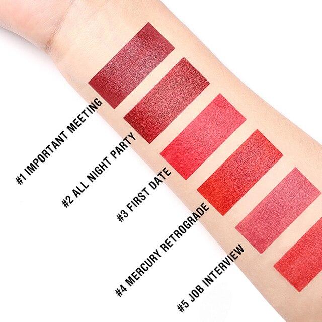 FOCALLURE Mini matte lipstick waterproof red brown velvet long lasting lipstick waterproof set women lips maquiagem 2