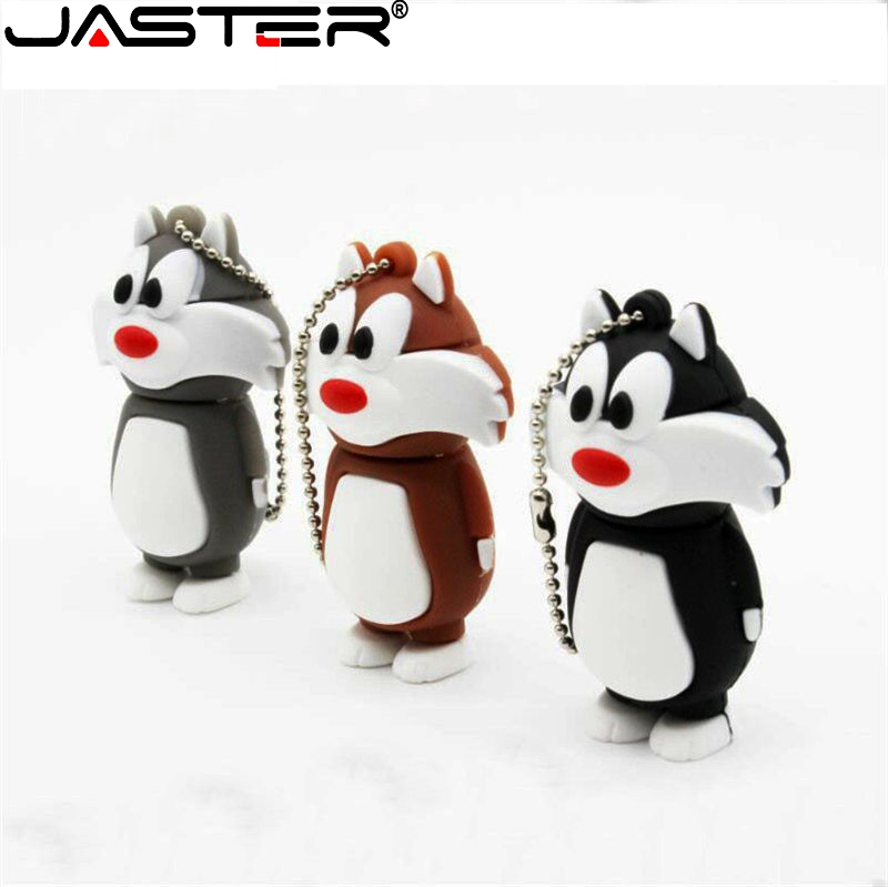 JASTER Cartoon Pen Drive Cat USB Flash Drive  USB Stick Usb 2.0 4GB 8GB 16GB 32GB 64GB Memory Stick Pendrive U Disk