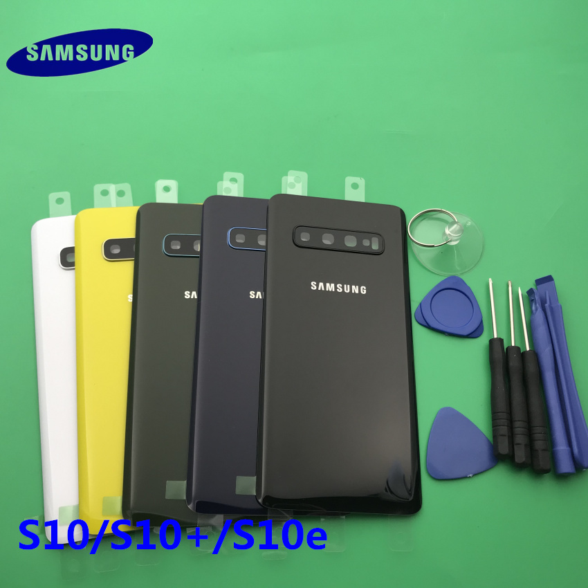 Replacement Original new Rear Panel Battery Glass Back Door Cover Samsung Galaxy S10 plus G970 G975 S10e G973 Camera Glass Frame