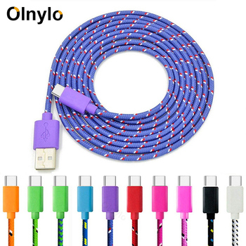 1M USB Type C Cable Fast Charging USB C Data Cord Usb-C Charger For Xiaomi Mi Note 10 Pro Samsung S10 S9 S8 Plus 3M Type-C Cable