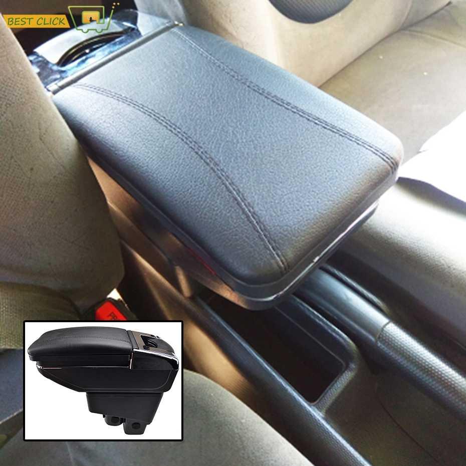 XUKEY для Honda Fit 2002-2008 центральный консольный ящик кожаный черный подлокотник коробка Джаз 2004 2006 2007