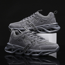 Sneakers Running Shoes Fashion Men Lightweight Outdoor Sports Shoes Air Cushion Lace Up Breathable Mesh Comfort Running Shoes