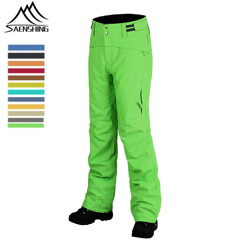 SAENSHING Winter Ski Pants Men & Women Strapless Thicken Warm Snowboard Pants Snow Trousers Thermal Waterproof Mountain Skiing