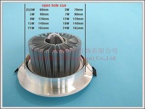 Image 5 - LED תקרת אור אלומיניום מקורה ספוט אור זרקור שקוע LED למטה אור 3W 5W 7W 9W 12W 15W 18W 21W 24W תקרת אור