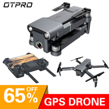 OTPRO אנטי לנער 3 ציר Gimble GPS Drone עם WiFi FPV 1080P 4K מצלמה Brushless מנוע מתקפל quadcopter צעצועי מתנה rc dron ילד