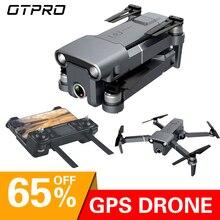 OTPRO dron plegable de 3 ejes con WiFi y cámara 4K, dron cuadricóptero de juguete antivibración con cámara 4K, Motor sin escobillas, regalo para niño